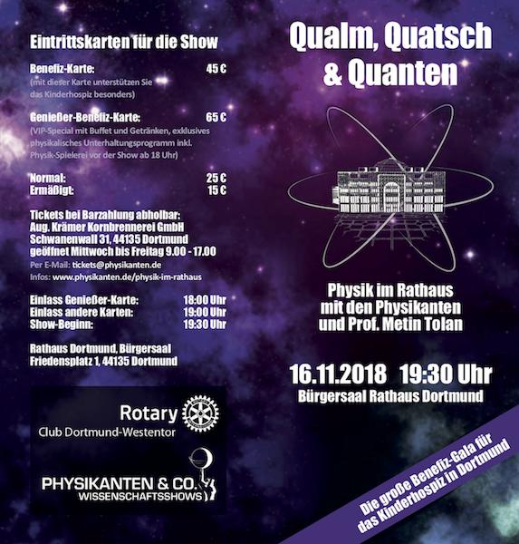 Spendengala für das Kinderhospiz: Physik im Rathaus mit Prof. Metin Tolan @ Rathaus der Stadt Dortmund - Bürgersaal | Dortmund | Nordrhein-Westfalen | Deutschland